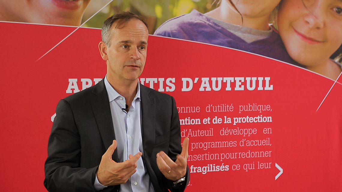 "Nicolas Truelle, CEO of Apprentis d'Auteuil: ""2015 highlighted the urgency of our educational work"""